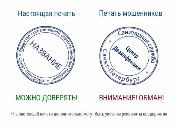 Сравнение настоящей и поддельной печати