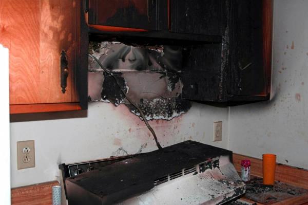 Обработка кухни после пожара